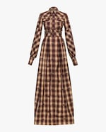 Lena Hoschek Dallas Long Sleeve Maxi Dress 0