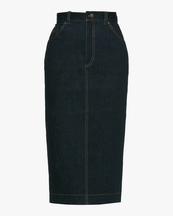 Jailhouse Denim High Waisted Pencil Skirt