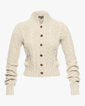 Pippa Cropped Cableknit Cardigan