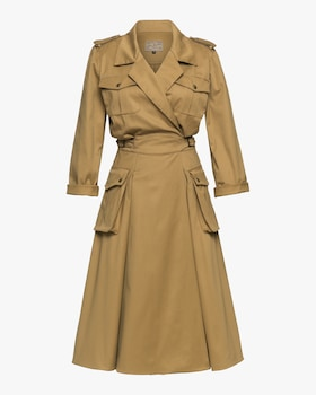 Utility Wrap Dress With Pockets