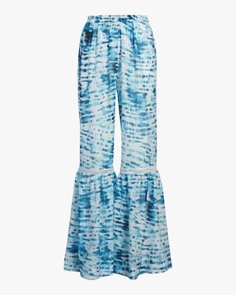 Flared Tie Dye Beach Pants