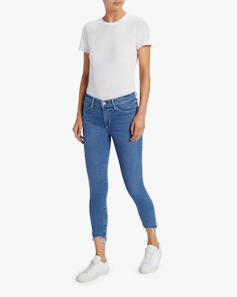 Mid Rise Skinny Crop Jeans