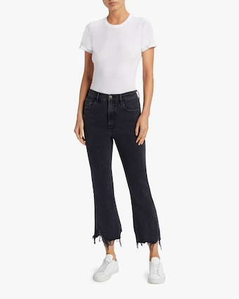 Empire Crop Flare Jeans