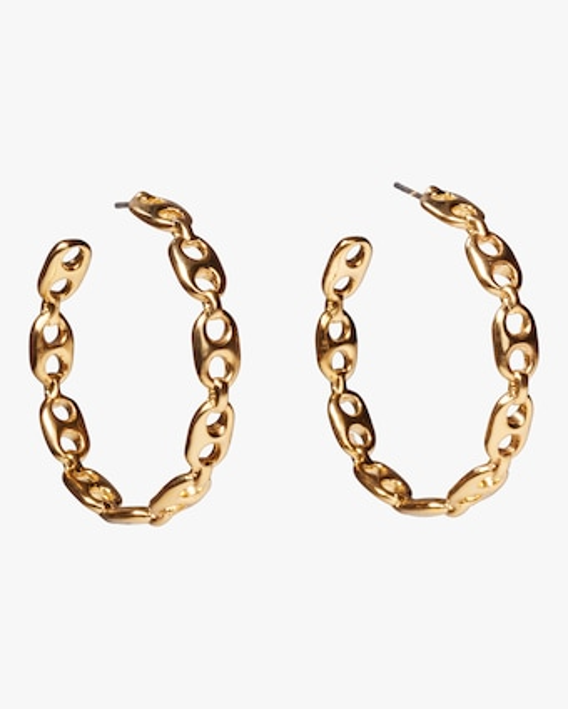Chain Link Hoop Earrings