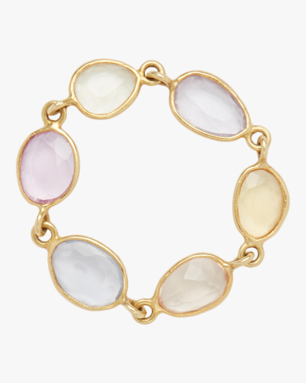 Single Row Blush Sapphire Ring