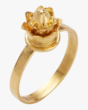 Pippa Small Burmese Lotus Bud Ring 1