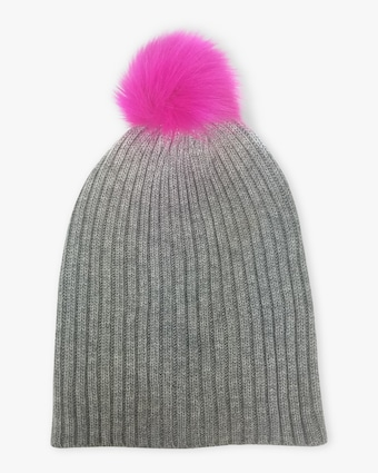 Perfect Faux Fur Pom Pom Beanie