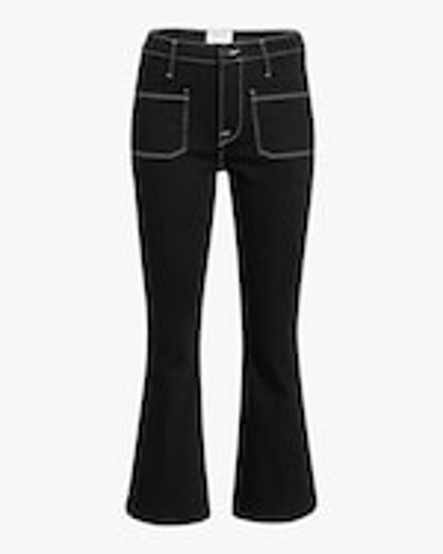 Frame Le Bardot Crop Flare Jeans 0