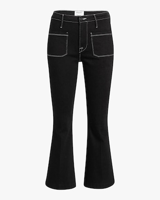 Frame Le Bardot Crop Flare Jeans 1