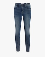 Frame High-Rise Raw Edge Skinny Jeans 0