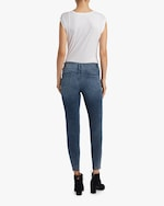 Frame High-Rise Raw Edge Skinny Jeans 2