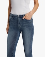 Frame High-Rise Raw Edge Skinny Jeans 3