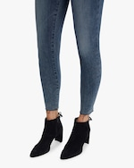 Frame High-Rise Raw Edge Skinny Jeans 4