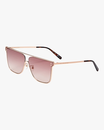 SC0205S Rose Gold Oval Sunglasses