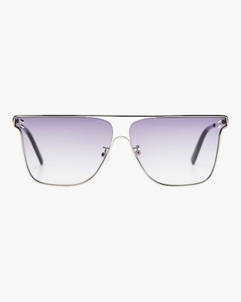 SC0205S Silver Oval Frame Sunglasses