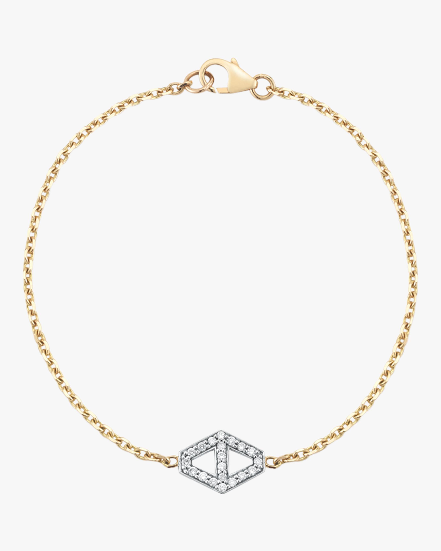 Walters Faith Keynes Diamond Signature Hexagon Bracelet | Diamonds/yellow Gold In White Gold