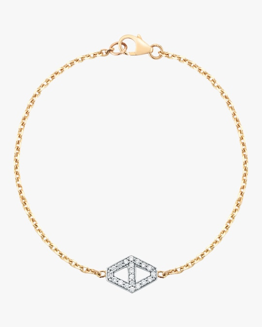 Walters Faith Keynes Diamond Signature Hexagon Bracelet 0