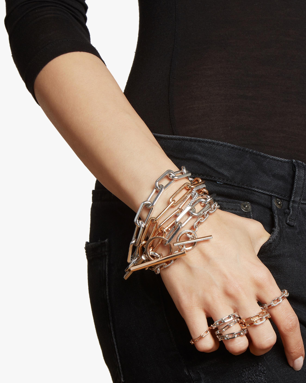 Saxon Double Wrap Chain Link Bracelet