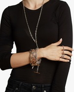 Walters Faith Saxon Solid Chain Link Toggle Bracelet 1