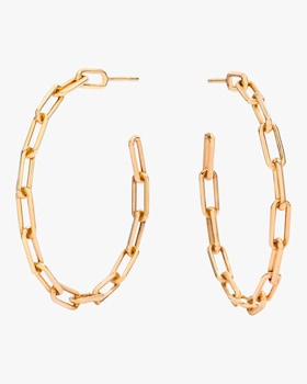 Saxon Chain Link Hoop Earrings