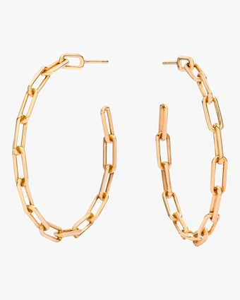 Saxon Chain Link Hoop Earrings