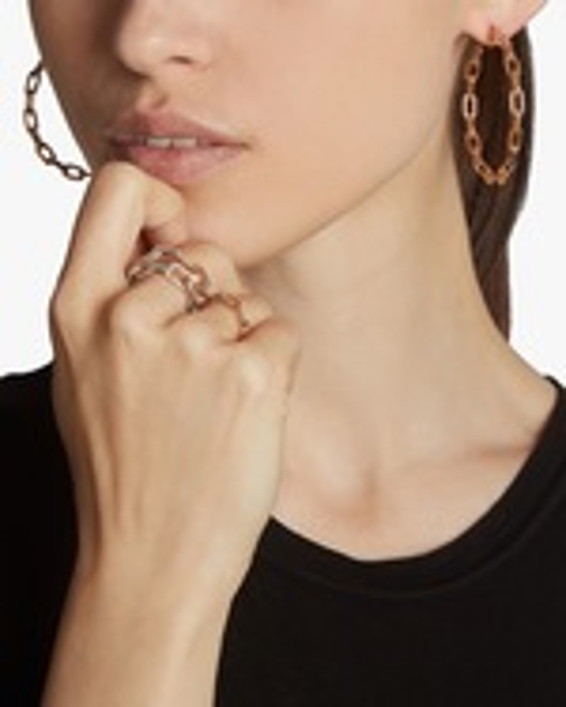 Walters Faith Saxon Chain Link Hoop Earrings 1