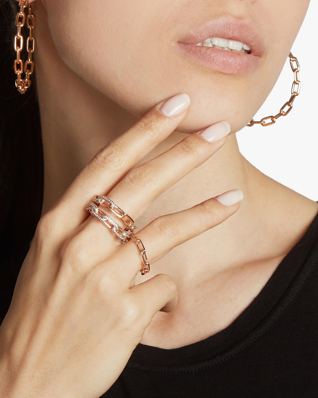 Walters Faith Saxon Chain Link Hoop Earrings 2