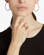 Walters Faith Clive Black Rhodium Scalloped Hoop Earrings 1