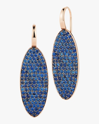Walters Faith Lytton Blue Sapphire Oval Earrings 1