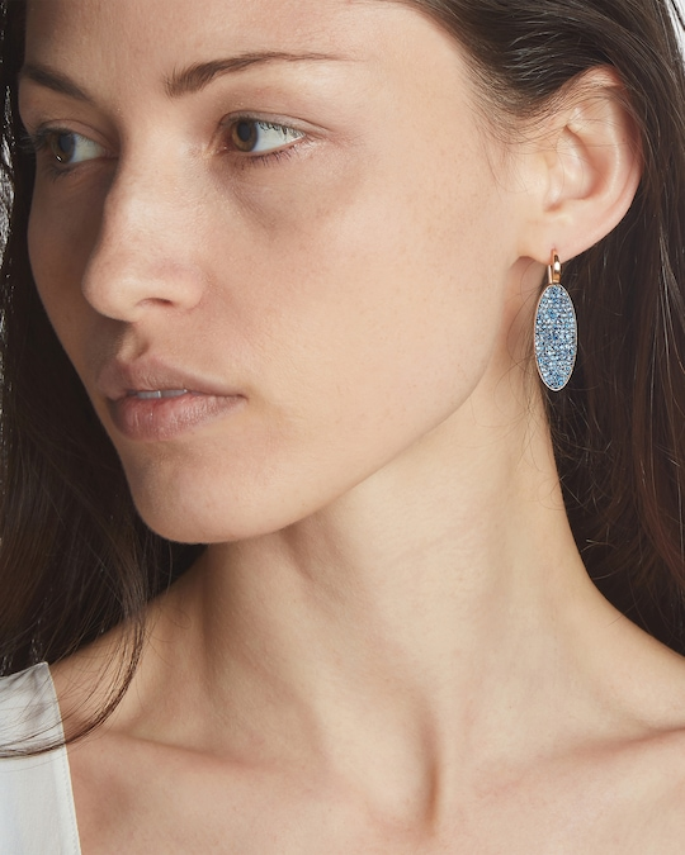 Walters Faith Lytton Blue Sapphire Oval Earrings 1