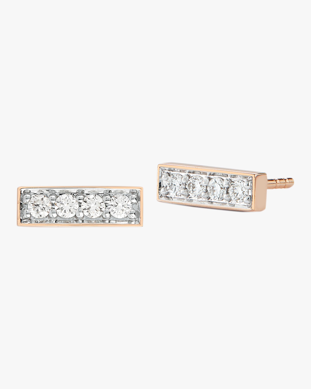 Walters Faith Grant Diamond Mini Bar Stud Earrings   Rose Gold