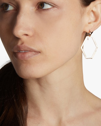 Walters Faith Keynes Open Hexagon Earrings 2