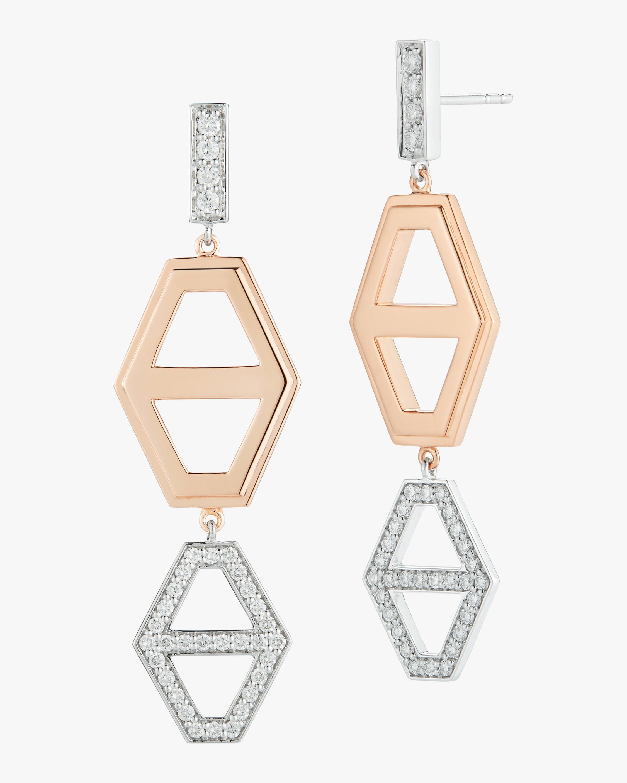 Walters Faith Keynes Two Tone Hexagon Drop Earrings 0