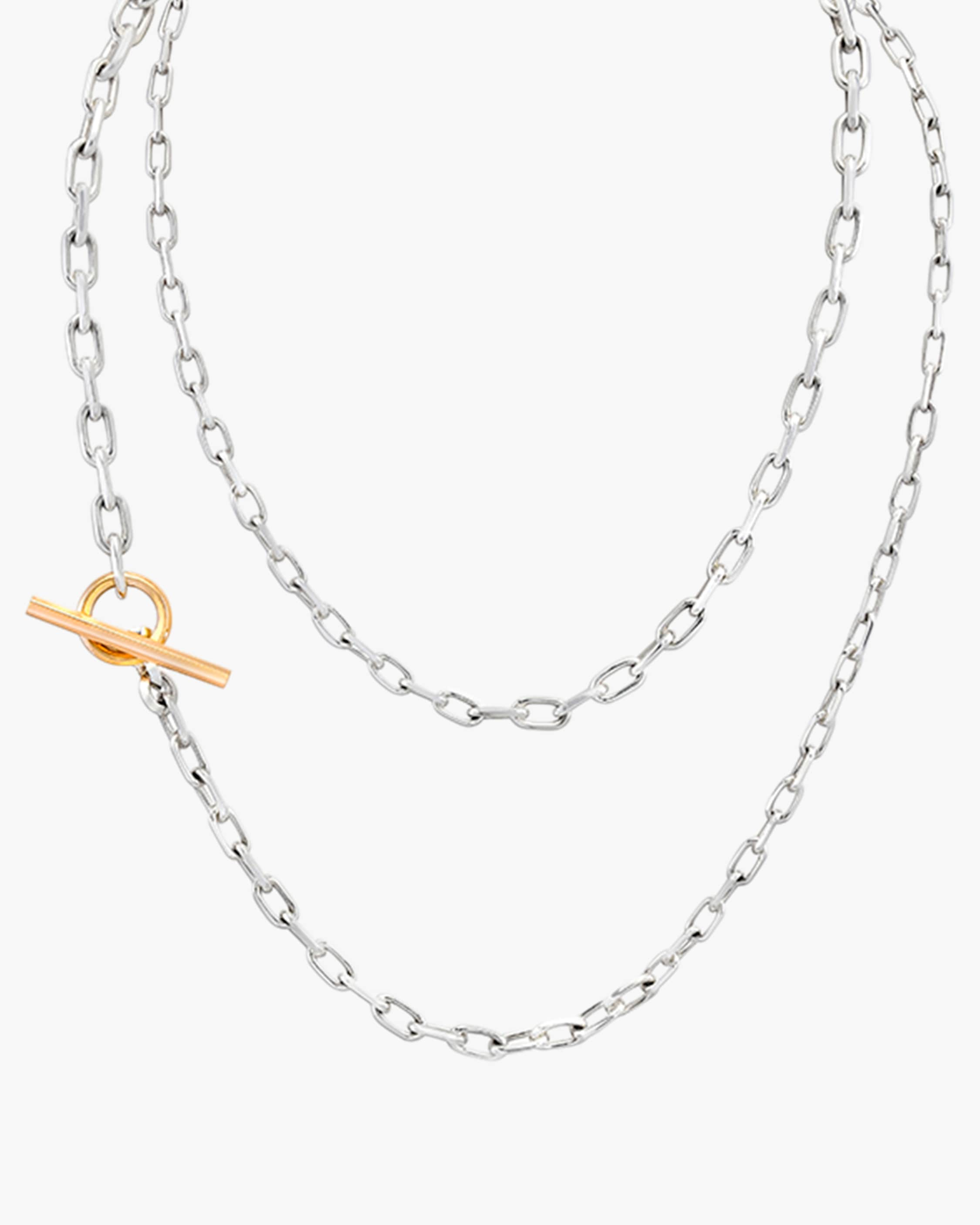 Walters Faith Saxon Graduated Chain Link Necklace   Rose Gold/sterling Silver