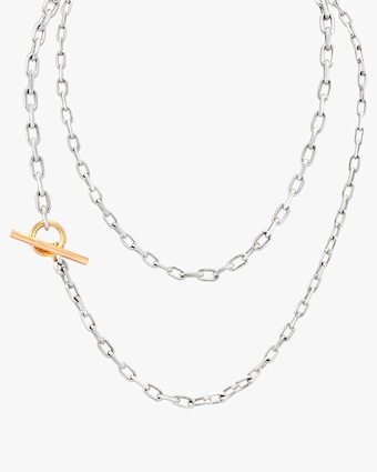 Saxon Graduated Chain Link Necklace