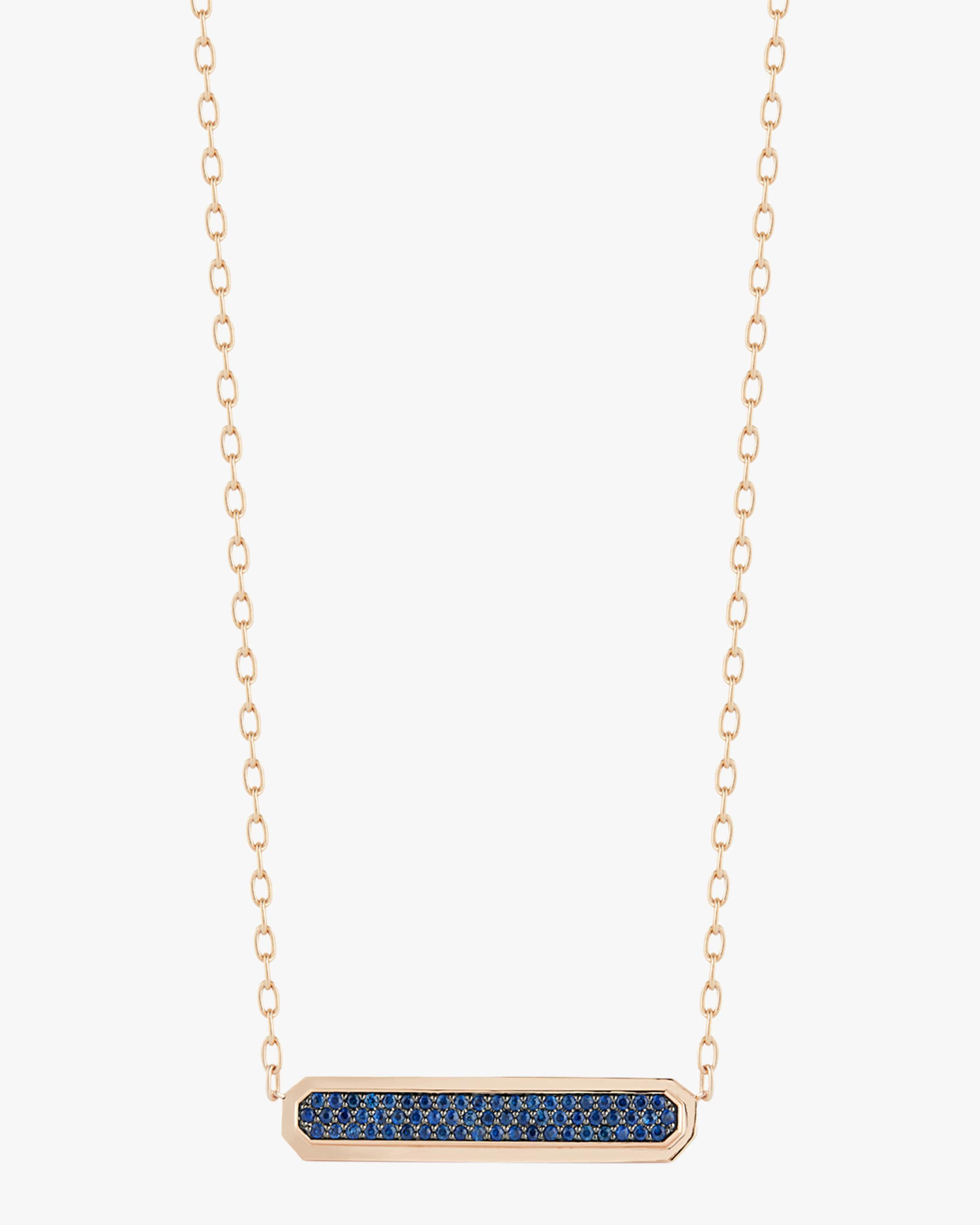 Walters Faith Carrington Reversible Id Bar Pendant Necklace | Gemstones/rose Gold