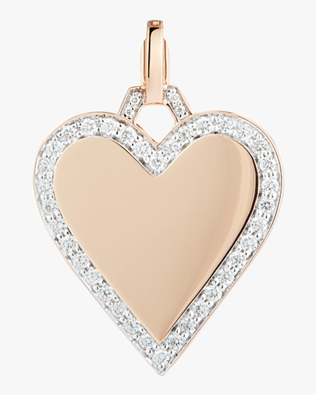 Walters Faith Dora Diamond Heart Charm   Diamonds/rose Gold
