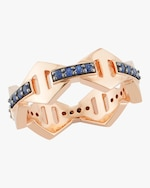 Walters Faith Keynes Blue Sapphire Hexagon Ring 0