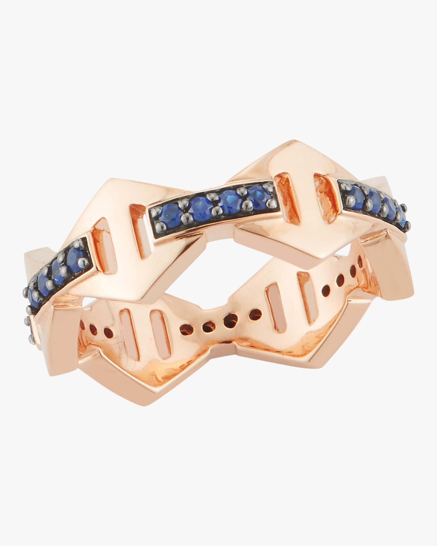 Keynes Blue Sapphire Hexagon Ring