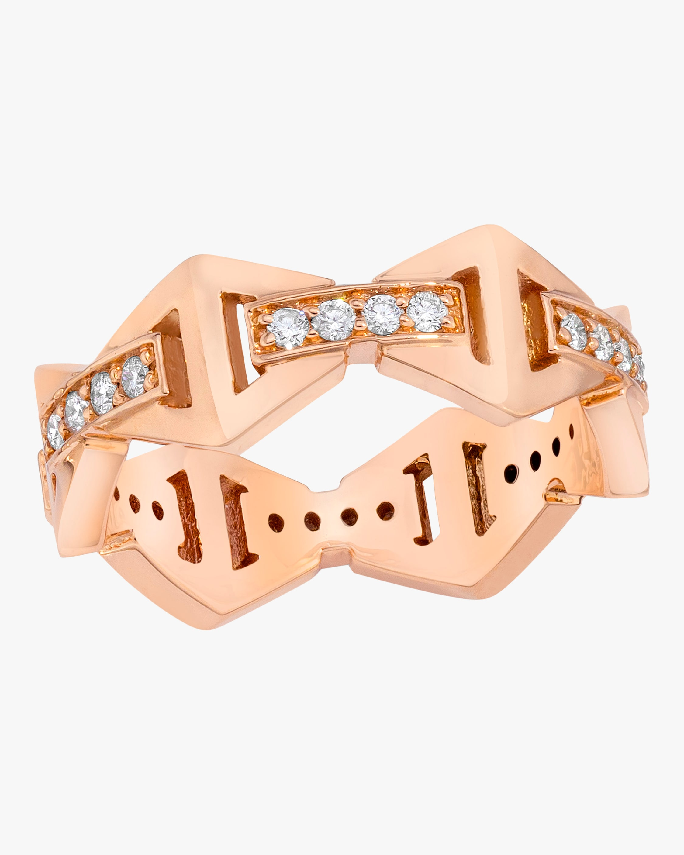 Walters Faith Keynes Diamond Hexagon Ring In Rose Gold
