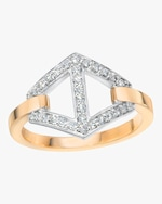 Walters Faith Keynes Diamond Two Tone Hexagon Ring 0