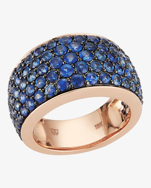 Lytton Pavé Blue Sapphire Ring
