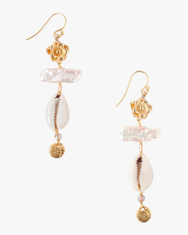 Pearl & Shell Drop Earrings