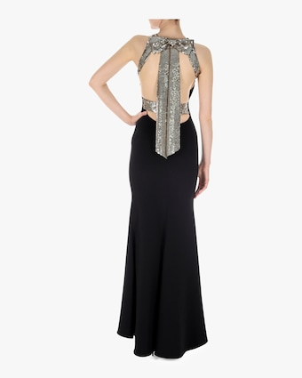 Halter Strappy Bow Gown