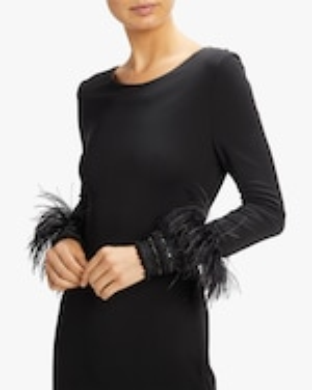Badgley Mischka Braided Cuff Sheath Dress 3