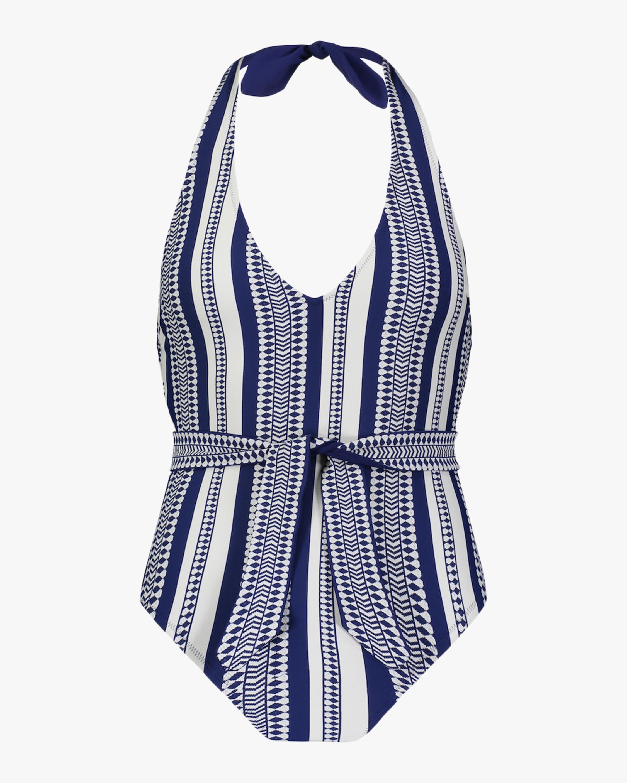 Lem Lem Luchia Deep V-Belted One-Piece Swimsuit 1