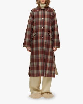 Zen Reversible Checked Coat