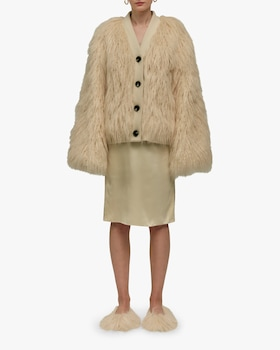 Yeti Oversized Faux Shearling Cardigan