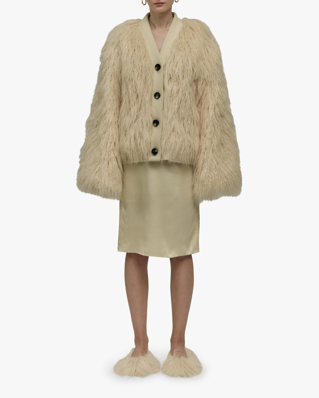 Yeti Oversized Faux Shearling Cardigan