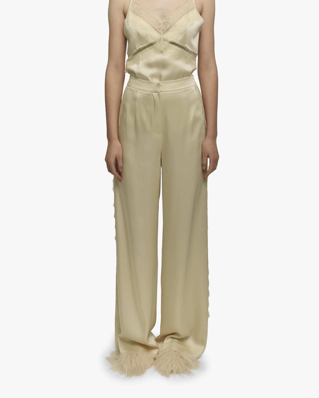 Embellished Satin Pants